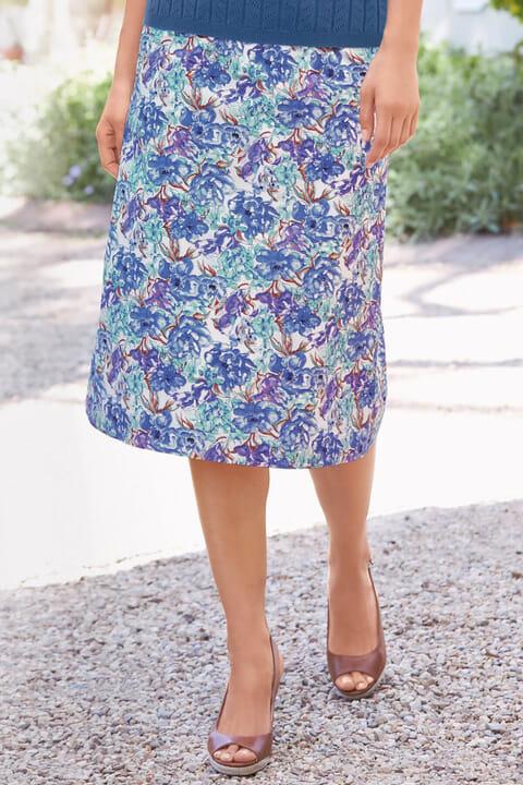 Printed A-line skirt