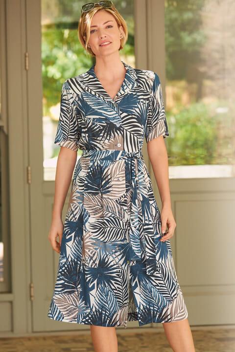 Leaf printed dress
