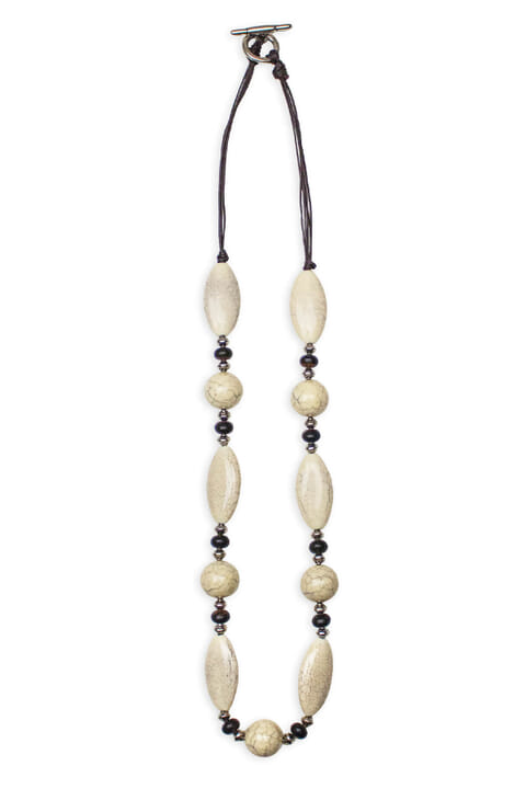 Contemporary bead necklace