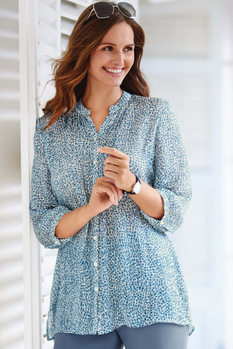 Abstract spot blouse