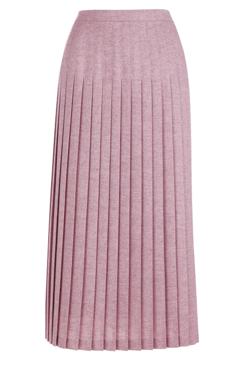 Donegal pleated skirt