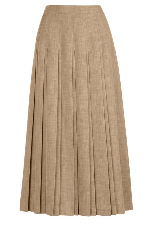 Double pleat textured skirt