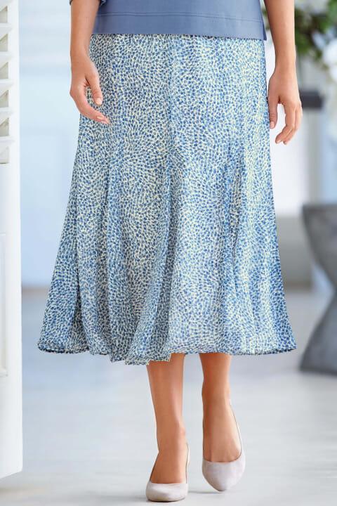 Abstract spot skirt
