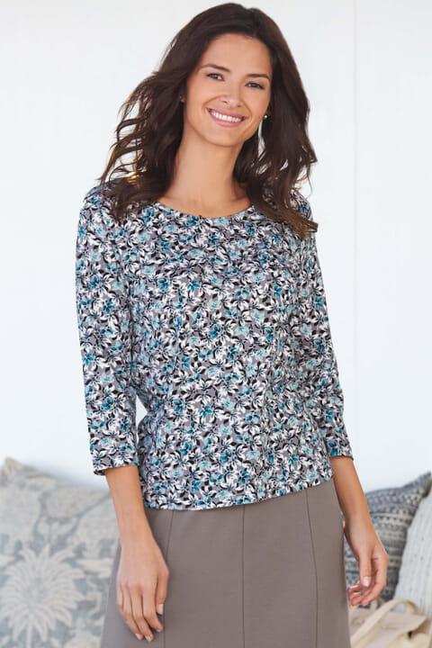Floral Print Jersey Top