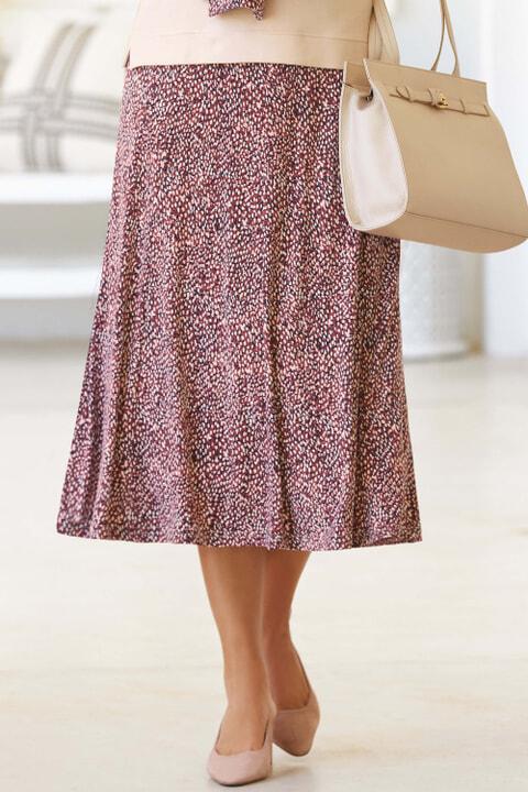 Print Jersey Skirt