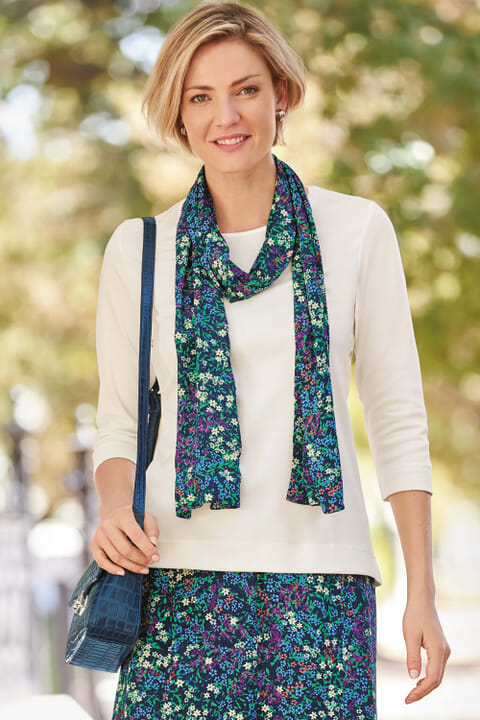Mini floral scarf