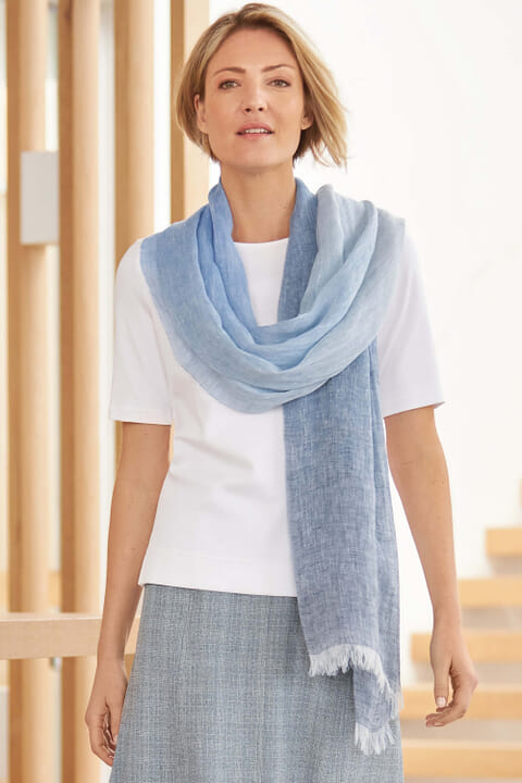 Italian woven linen scarf
