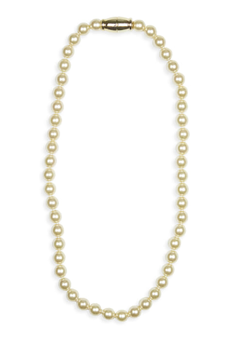 Venetian pearlised glass bead necklace