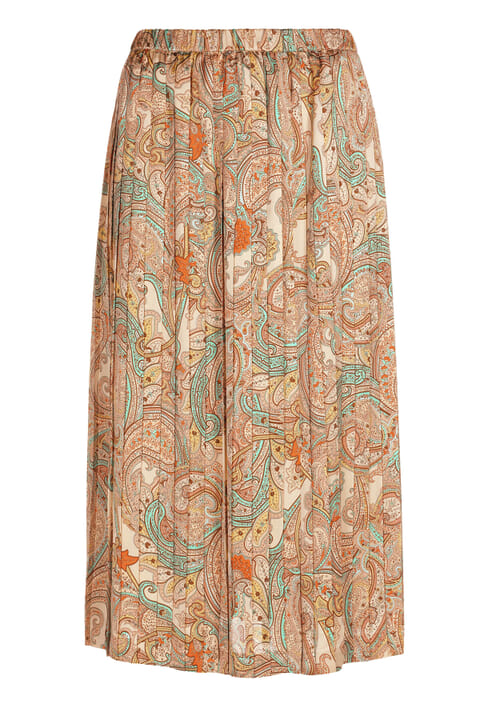 Pleated paisley skirt