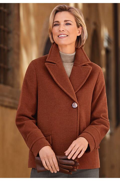 Rever collar coat