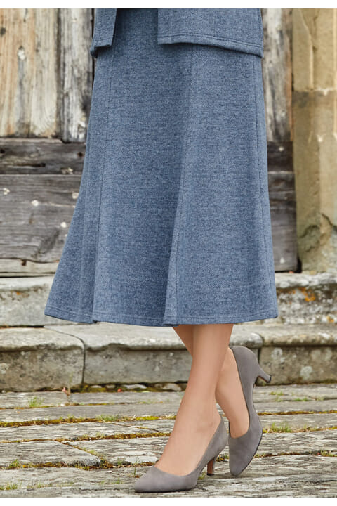 Herringbone jersey skirt